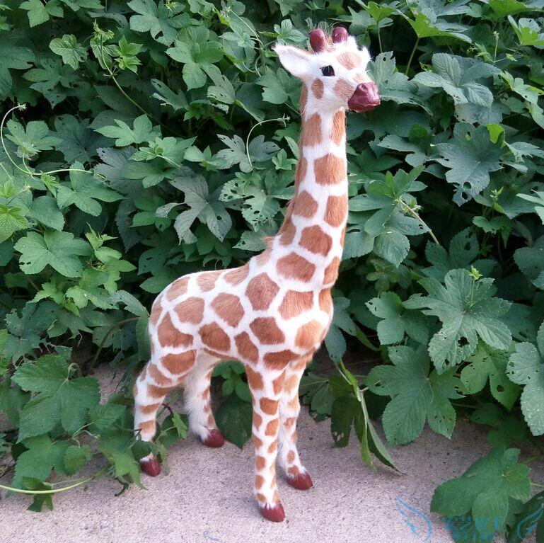 big lovely simulation giraffe toy plastic&fur giraffe model doll about 56x29cm gift a138 детские кроватки forest lovely giraffe качалка