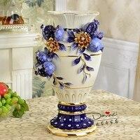 Гостиная украшения высококачественный Jingdezhen керамическая ваза оформлены Свадебный подарок домашнего интерьера цветок