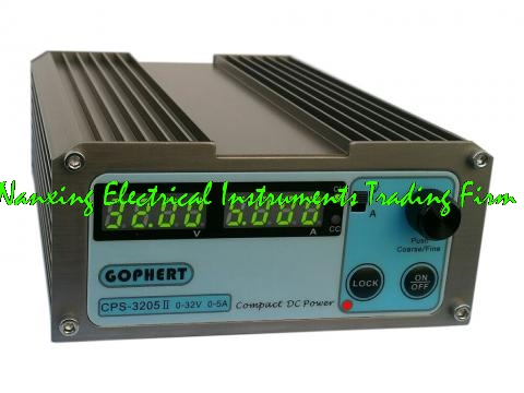 Fast arrival CPS-3205II 32V 5A compact adjustable DC Power Supply 4 digits green display for Volt and Amp meter free ship small volume cps 6011 60v 11a high efficiency adjustable dc power supply stabilized voltage supply