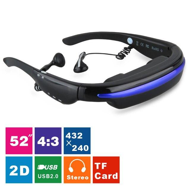 7b0726881b Portable Wireless Video Glasses VG280 Glasses Eyewear Mobile Theatre 52  Inch 4 3 Virtual Screen