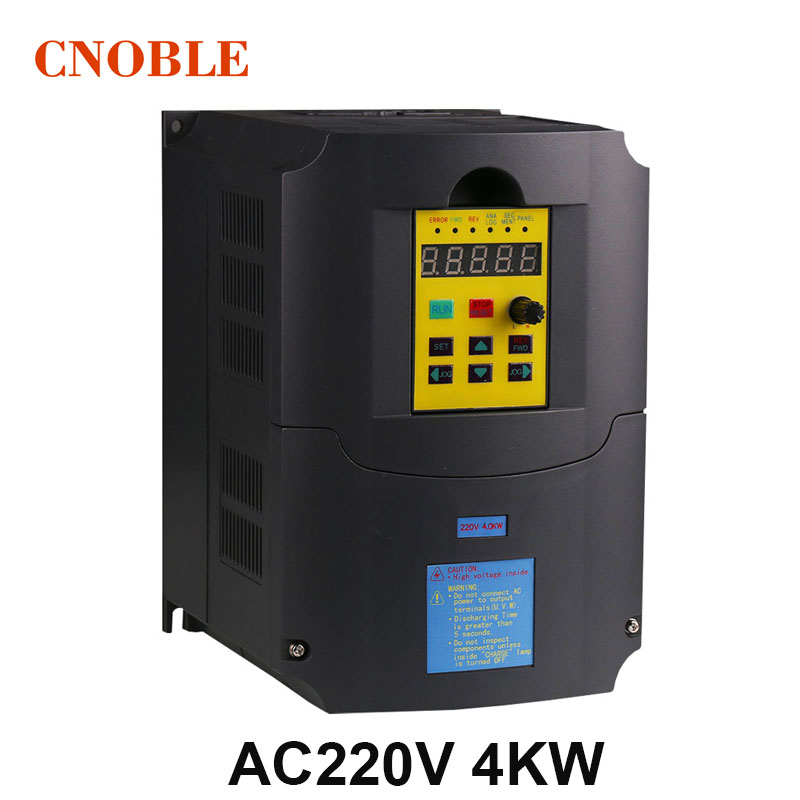 цена на 380V VFD 4kw Frequency inverter/converter 220V input 380v output 400HZ Engraving machine uuivertor special for spindle motor