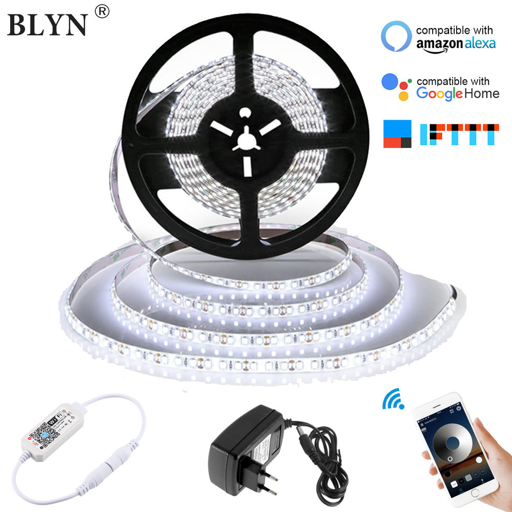 5M WIFI RGB White Warm White LED Strip Wateproof LED Strips 300LEDs With Magic Home WIFI Dimmer RGB Controller Voice Control Kit
