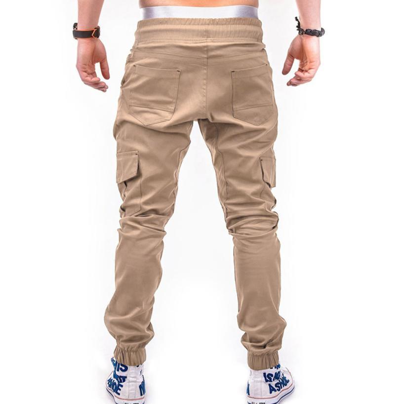 HTB1rk5rkbZnBKNjSZFhq6A.oXXam Men's Pants 2018 Fashion Men's Pure Color Bandage Casual Loose Sweatpants Drawstring Pant       july22