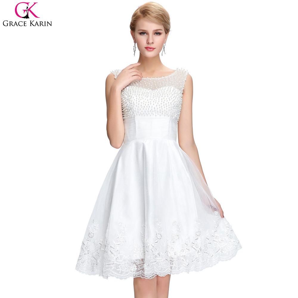 Online Get Cheap Elegant White Cocktail Dresses