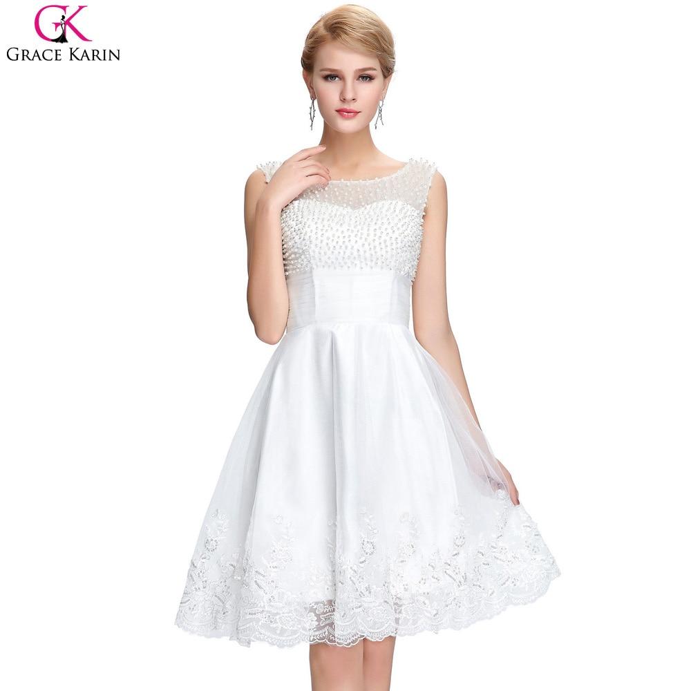 Online Get Cheap Elegant White Cocktail Dresses