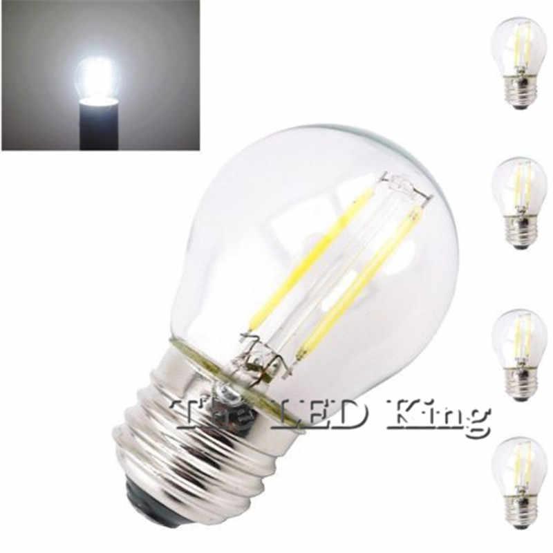 Süper parlak Retro G45 A60 C35 LED 24W 18W 12W 6W kısılabilir filaman ampul E27 E14 COB 220V cam kabuk Vintage tarzı lamba