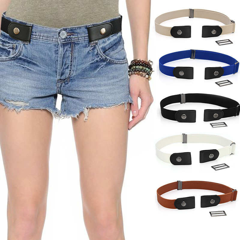 2019 Hot Sale No Buckle Stretch Elastic Waist   Belt   High Quality Women Men Unisex   Belt   for Jean Pants Dresses Adjustable   Belt