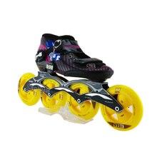New Carbon Fiber Inline Green Roller Skating Shoes Speed Skate Shoes For Women Good Quality Patins 4 Wheel Roller Skates
