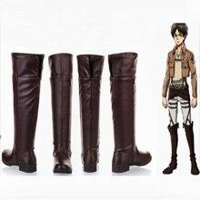 Shingeki لا كيوجين هجوم على تيتان ليفي تأثيري الرجال أحذية الكبار الأحذية أكرمان إرين جايجر ميكاسا هالوين ازياء للنساء