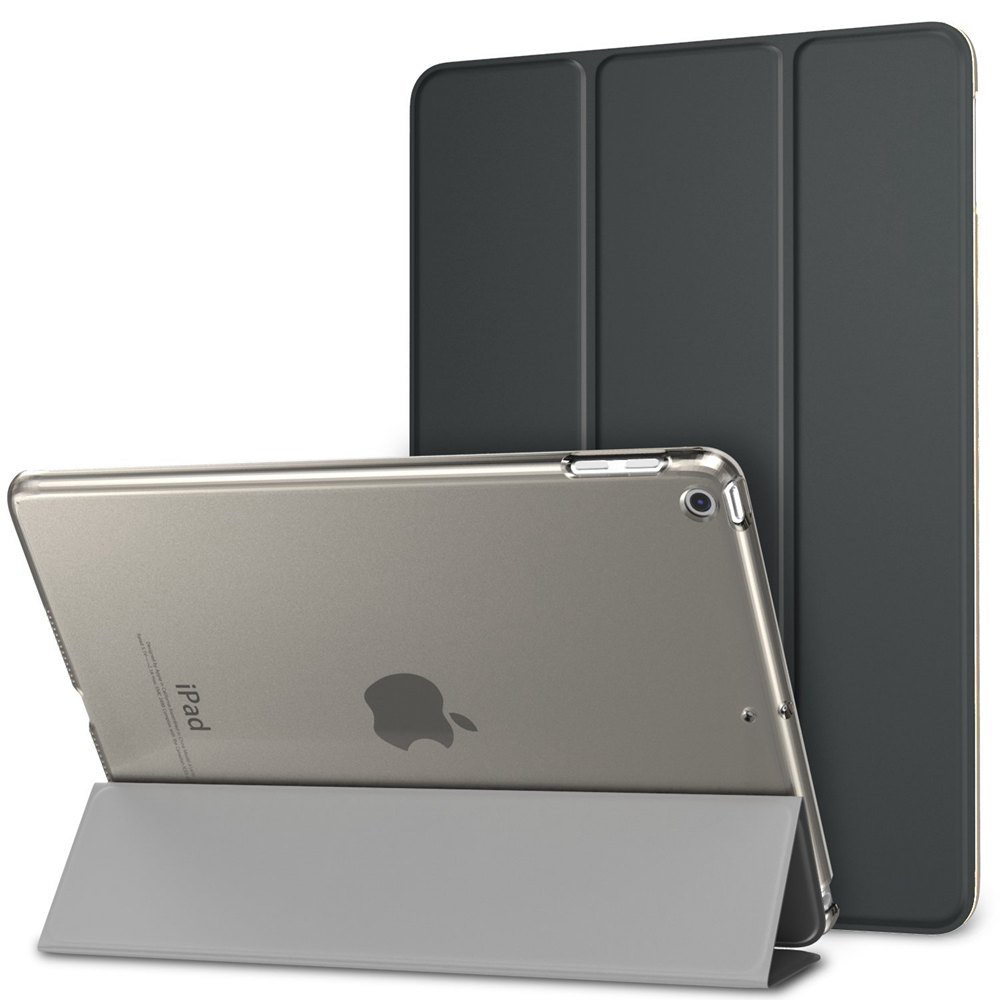 Ultra-thin Magnetic Case for iPad 9.7 2017 New Model A1822 / A1823 Smart PU Leather Funda Cover With Auto Sleep/Wake Up+Film+Pen nice soft silicone back magnetic smart pu leather case for apple 2017 ipad air 1 cover new slim thin flip tpu protective case