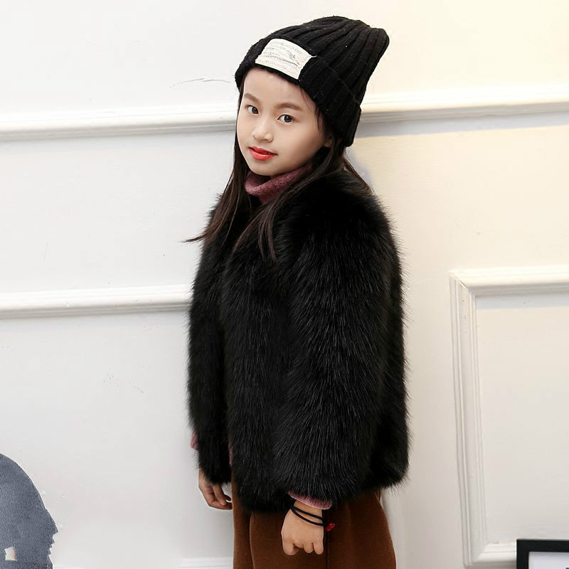 152a6d565728c Toddler Faux Fur Jacket Cute Lolita Children Thick Clothes Girl Fashion Winter  Plus size Coat Baby Warm Loose Outerwear WQ2-in Jackets   Coats from Mother  ...