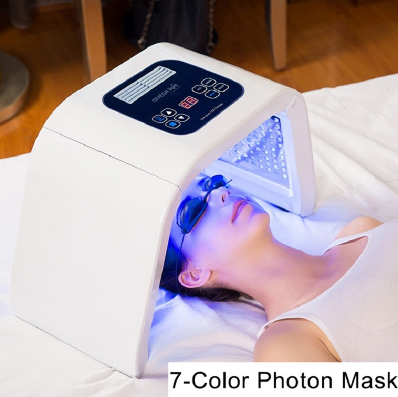 7 couleur Beauté Spectromètre PDT LLLT led Traitement Rajeunissement De La Peau Anti rides Acné masque facial Photon massage facial SPA Dispositif