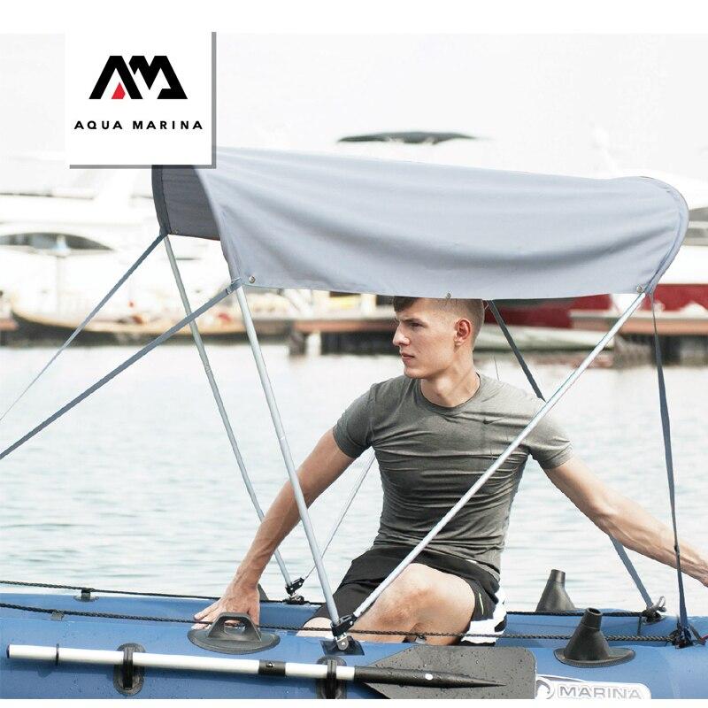 Parasol abri pour bateau gonflable pvc bateau canot radeau accessoire AQUA MARINA protection solaire pvc bateau de pêche auvent