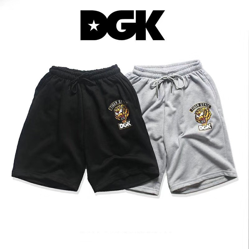 2019 DGK Shorts Men Streetwear Mens Tiger Head Cotton Casual DGK Shorts
