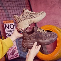 Fashion Leopard Chunky Sneakers Platform Women Shoes Running Basket Femme Dad Shoes 2019 New Casual Trainers Breathable Luxury