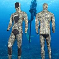 3.5 мм неопрена Мокрые одежды спорта людей Для мужчин подводной охоты Сёрфинг Подводное де mergulho Гидрокостюмы мокрого типа Одежда заплыва теп