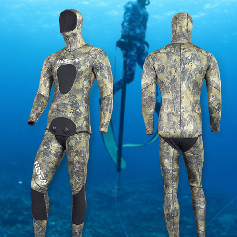 3.5mm Neoprene Wetsuit Men Spearfishing Surfing Scuba De Mergulho Wetsuits Swimming Warm Smoothskin Diving Wetsuits for Men