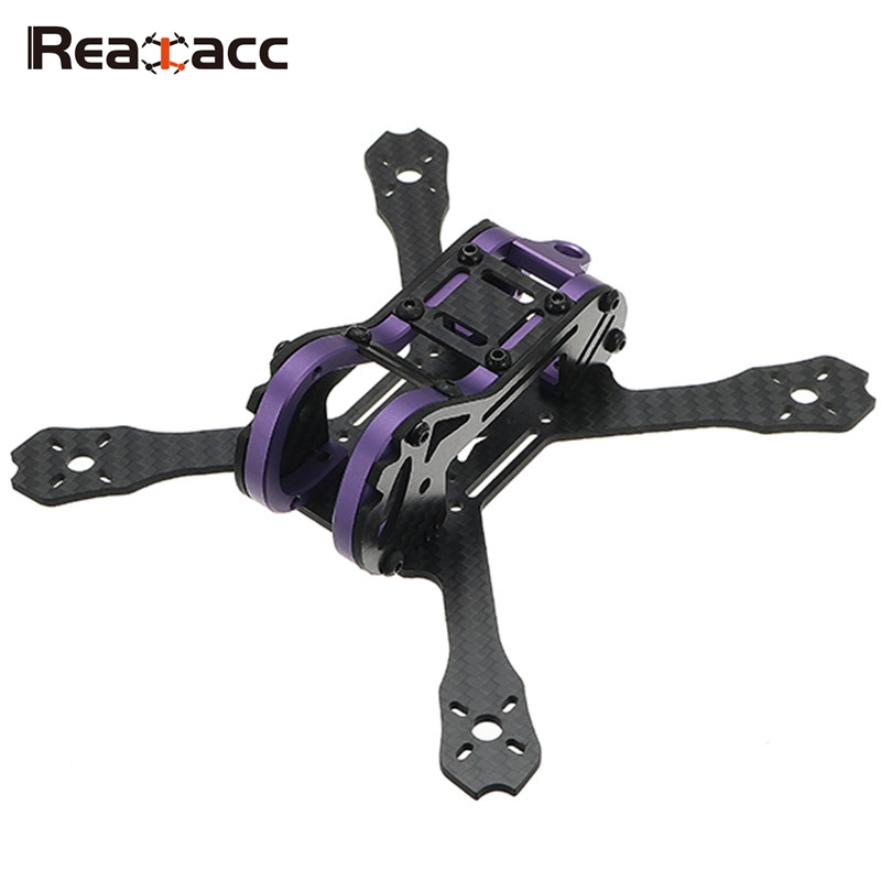 Realacc Purple150 150mm Wheelbase 2.5mm Arm FPV Racing Frame Kit 67g for RC Racer FPV Drone Quadcopter Helicopter Toy Spare Part frog lite fission version frame base rack chassis for rc fpv racing drone quadcopter