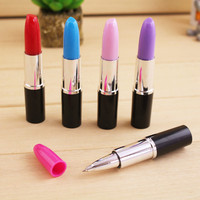 50pcs/lot wholesale lipstick pen Novelty Lipstick Pen lovely Lipstick Ball point pen for school students ballpoint lipstick pen