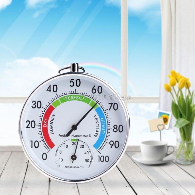 Température et Humidité Analogique Indicateur Intérieur Extérieur Thermomètre Hygromètre # H028 # Drop Shipping