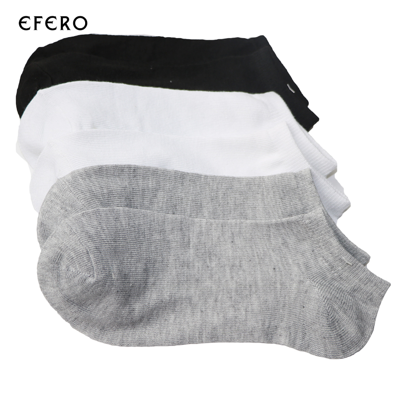 5pair Boat Socks Ankle Invisible Socks For Men Men 's Short Socks Black White Male Short Socks Low Cut Cotton Blends Lot