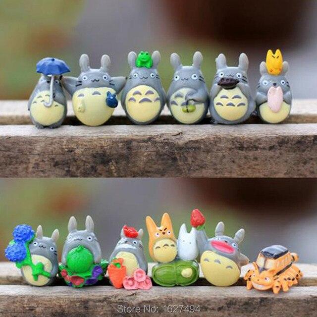 unids studio ghibli figura hayao miyazaki totoro decoracin del jardn miniaturas pastel figuritas de anime