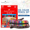 Faber Castell 48 Colors Oil Colored Pencil High Quality Germany Imported Set For Art School Student Sketch Painting Pen Supplies