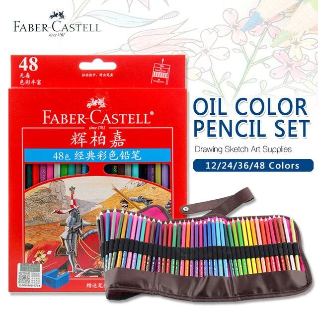 Faber Castell 48 Цветов Нефти Цветной Карандаш Высокое Качество Германия Импортировала Набор Для Художественной Школы Студента Sketch Pen Картина Поставки