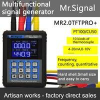 4-20mA генератор калибровки текущее напряжение PT100 термопары сигнал Давление передатчик TFT Дисплей USB зарядки записи