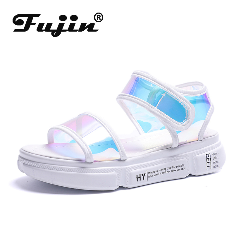 Fujin Summer Sandals Platform-Shoes Bling-Buckle-Strap Fashion Ladies Brand Casual 3-Cm