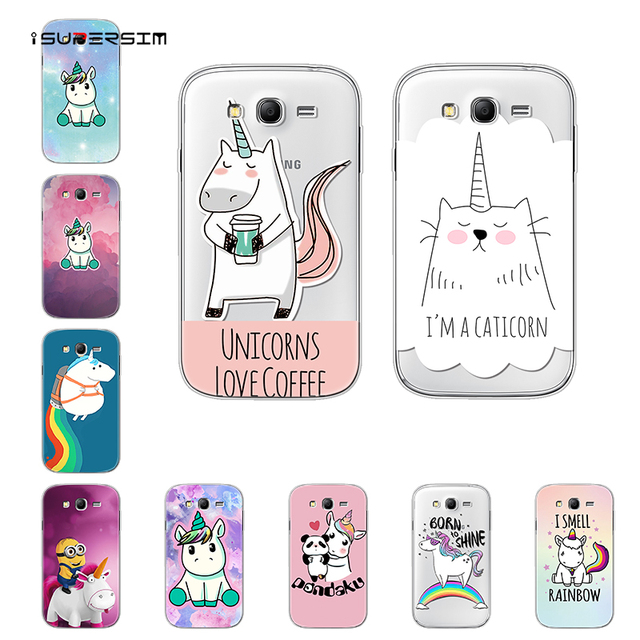 on sale 58a30 1254d US $1.18 13% OFF Cartoon Unicorn for Samsung Galaxy Grand Neo Plus I9060  Case Silicone Ultra Thin Soft TPU Rubber Transparent Back Print Cover-in ...