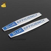 2pcs Car Fender Side Emblem Badge Decal Rear Trunk Sticker For Blue Efficiency Logo Mercedes Benz