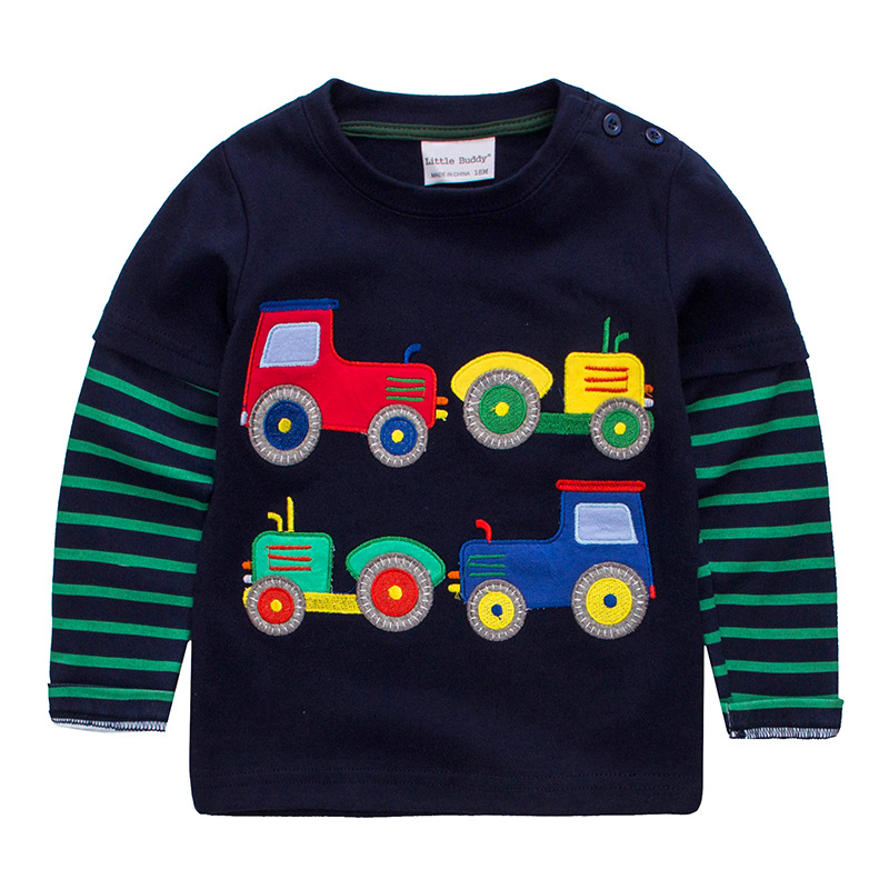 Jumpingbaby 2019 Boys T Shirt Baby Boy Clothes Kids Long Sleeve T-shirts Children Camiseta Dinossauro Roupas Infantis Menino New
