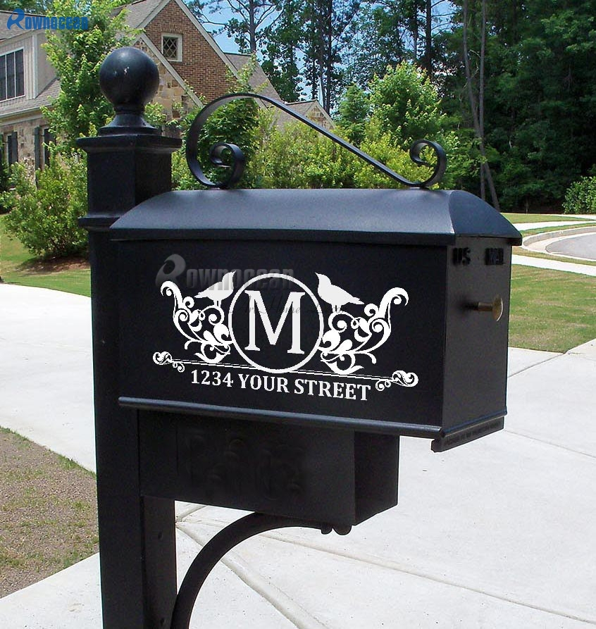 Custom Mailbox Decal Address Decal Mailbox Numbers Mailbox Stickers Mailbox Monogram House number decal
