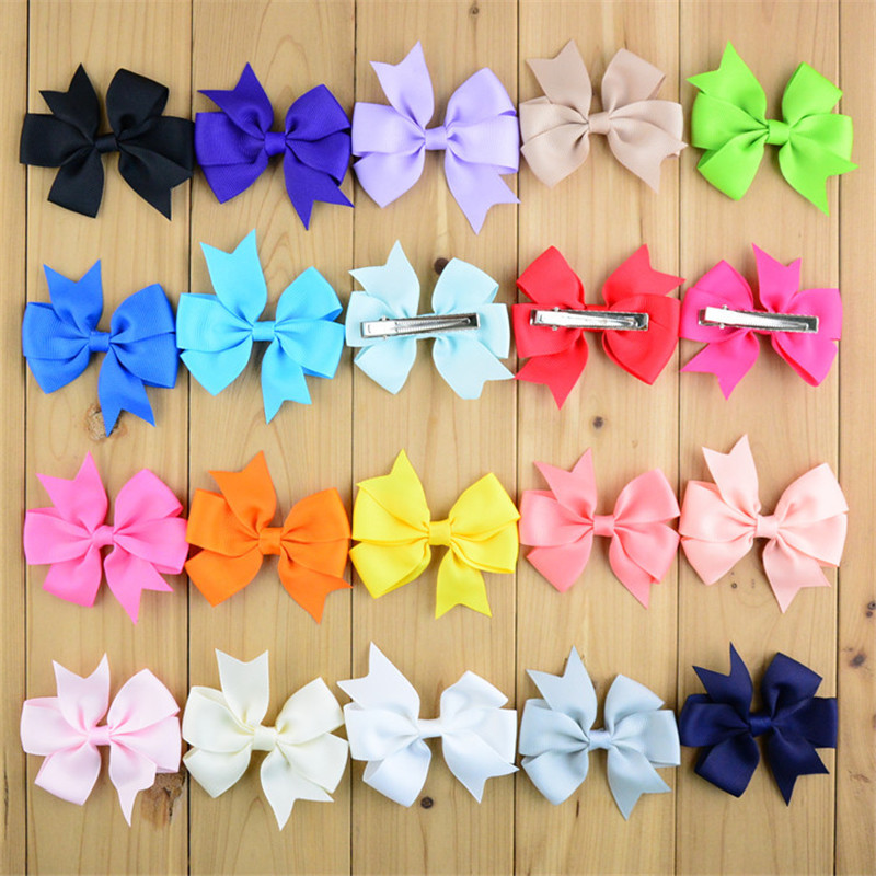Sale Popular Children Hair Clip Hair Accessories Headwear Baby Ribbon Bow Cute Girls Hairpins