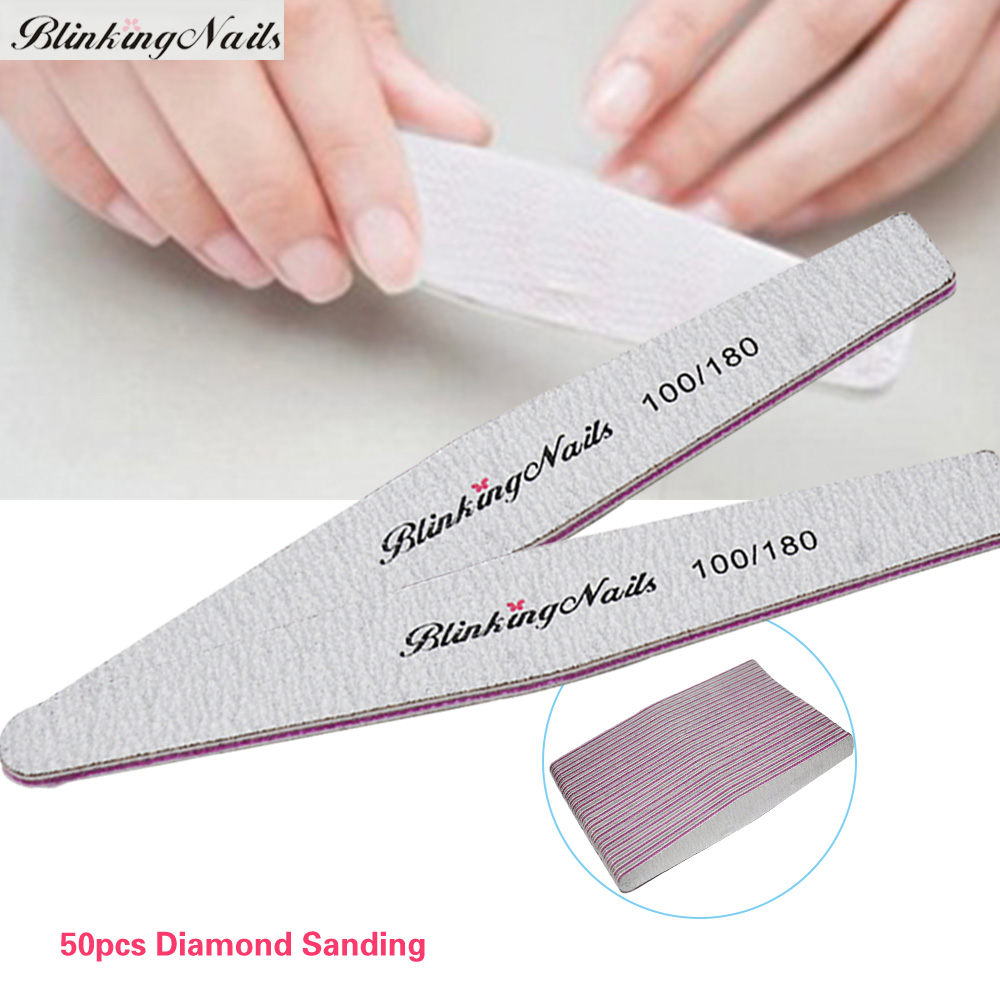 BlinkingNails 50pcs/lot 100 180 Grit Nail Files Wholesale Diamond ...