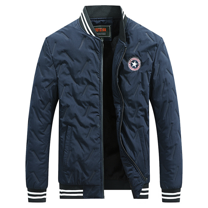 Winter Jacket Men Parkas Coat Fleece Jacket Man Windbreaker Military Jacket Coat Fitness Stand Collar Park Men Jaqueta Masculina