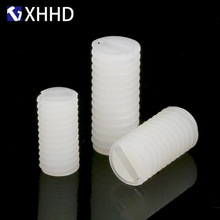 M6 M8 White Metric Screw Plastic Headless Nylon Fixing