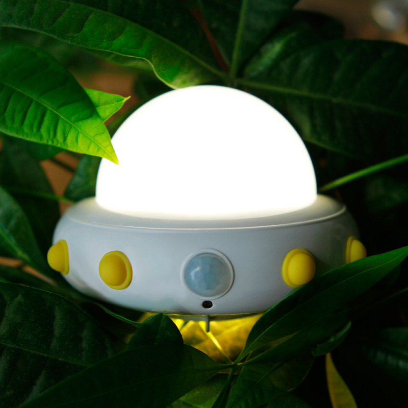 Novelty UFO Night Light Bedside Table Wall Lamp Rechargeable Lamps USB Charging LED Motion Sensor Activated Kids Baby Bedroom ins hot novelty led rechargeable