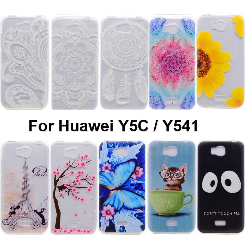 Huawei社の名誉蜂y541 tpuソフト印刷ケースカバーバッグケーシングhuawei社Y5C電話バックシェル用名誉蜂y541 Y5Cガード