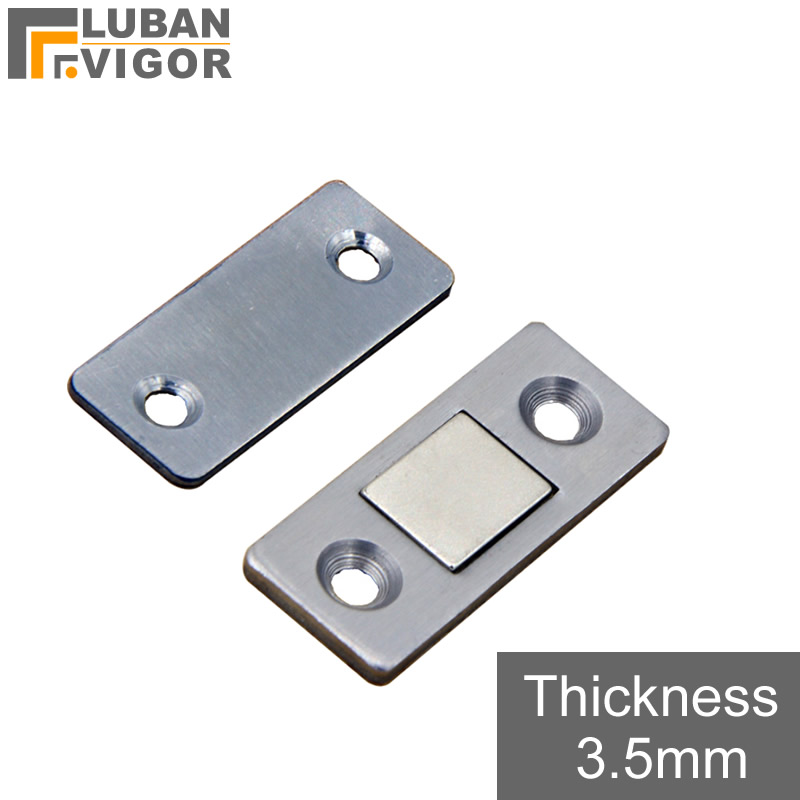 Stainless steel thin magnetic Door suction,Magnetic positioning,Multifunctional door stoper ,easy to install, Furniture Hardware stainless steel gate chamber door magnetic resistance wall suction super