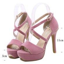 open toe high heels platform sandals Lace buckle sexy wedding shoes women high heel pumps