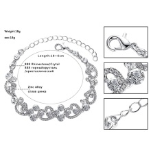 Heart Crystal Wedding Bridal Jewelry Sets Silver