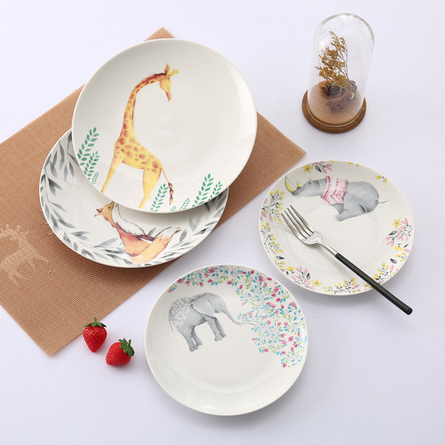 Scandinavian Style Creative Ceramic Western Dish European Tableware Cute Cartoon Animal Steak Plate Fruit Salad Plate  sc 1 st  AliExpress.com & Scandinavian Style Creative Ceramic Western Dish European Tableware ...