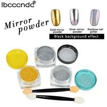1g Box Gold Silver Nail Glitter Powder Use with Nail Gel Polish Mirror Eye Shadow Makeup