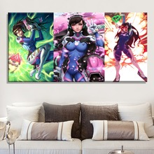 1 Piece Large Game Poster Modern Canvas Print Type D.Va Overwatch Picture For Living Room Or Girl Wall Decorative Artwork
