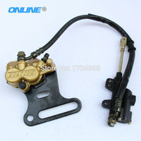 REAR HYDRAULIC BRAKE ASSEMBLY CALIPER CYLINDER For DIRT PIT BIKE ATV 70cc 110cc 125cc 140cc 150cc