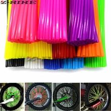 Universal Mixed color Motorcycle Wheel Rim Spoke Skins Covers Wrap Tubes Decor Protector Kit for kawasaki KLR650 KLX250 KLX450R 36pcs motorcycle bick wheel rim spoke skins covers wrap tubes decor