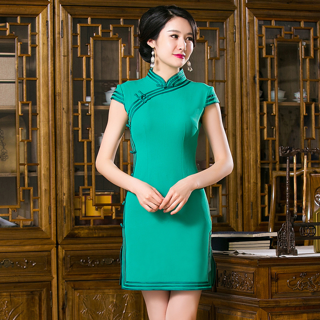 Free Shipping New Sale Qipao Chinese Women's Clothing Cheong-sam Dress Solid Qipao For Women
