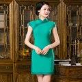 Frete Grátis Nova Venda Roupas Qipao Chinês das Mulheres Qipao Cheong-sam Vestido Sólida Para Mulheres